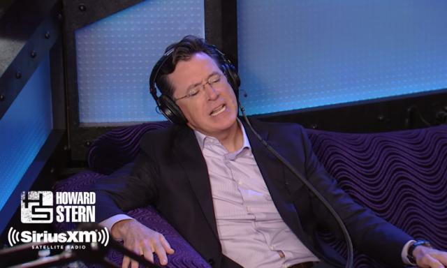 Watch Stephen Colbert's Mick Jagger Impression On Howard Stern