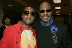 Kanye West and Stevie Wonder