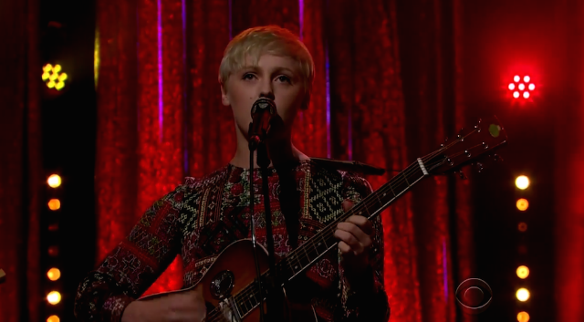 """Watch Laura Marling Bring """"I Feel Your Love"""" To James Corden"""