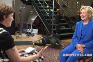 Lena Dunham Asked Hillary Clinton About Lenny Kravitz's Penis