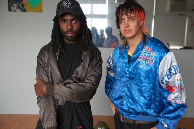 Dev Hynes and Julian Casablancas