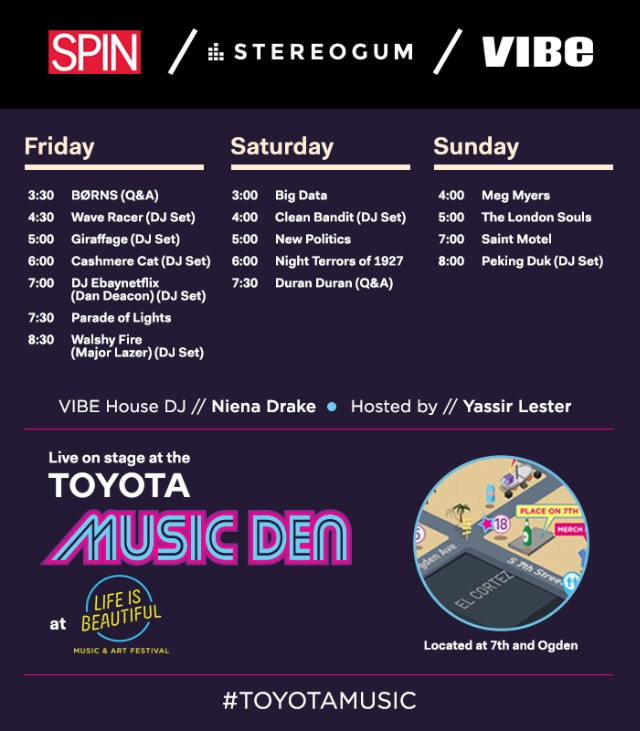 Stereogum At Life Is Beautiful 2015 Toyota Music Den