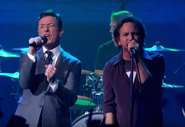 Pearl Jam on Colbert