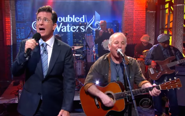Watch Accurate Paul Simon Tribute Close Out Stephen Colbert's First Week