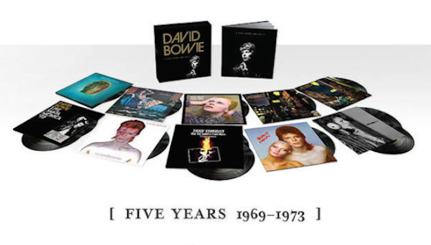Win David Bowie's FIVE YEARS 1969 - 1973 13 LP Vinyl Box Set