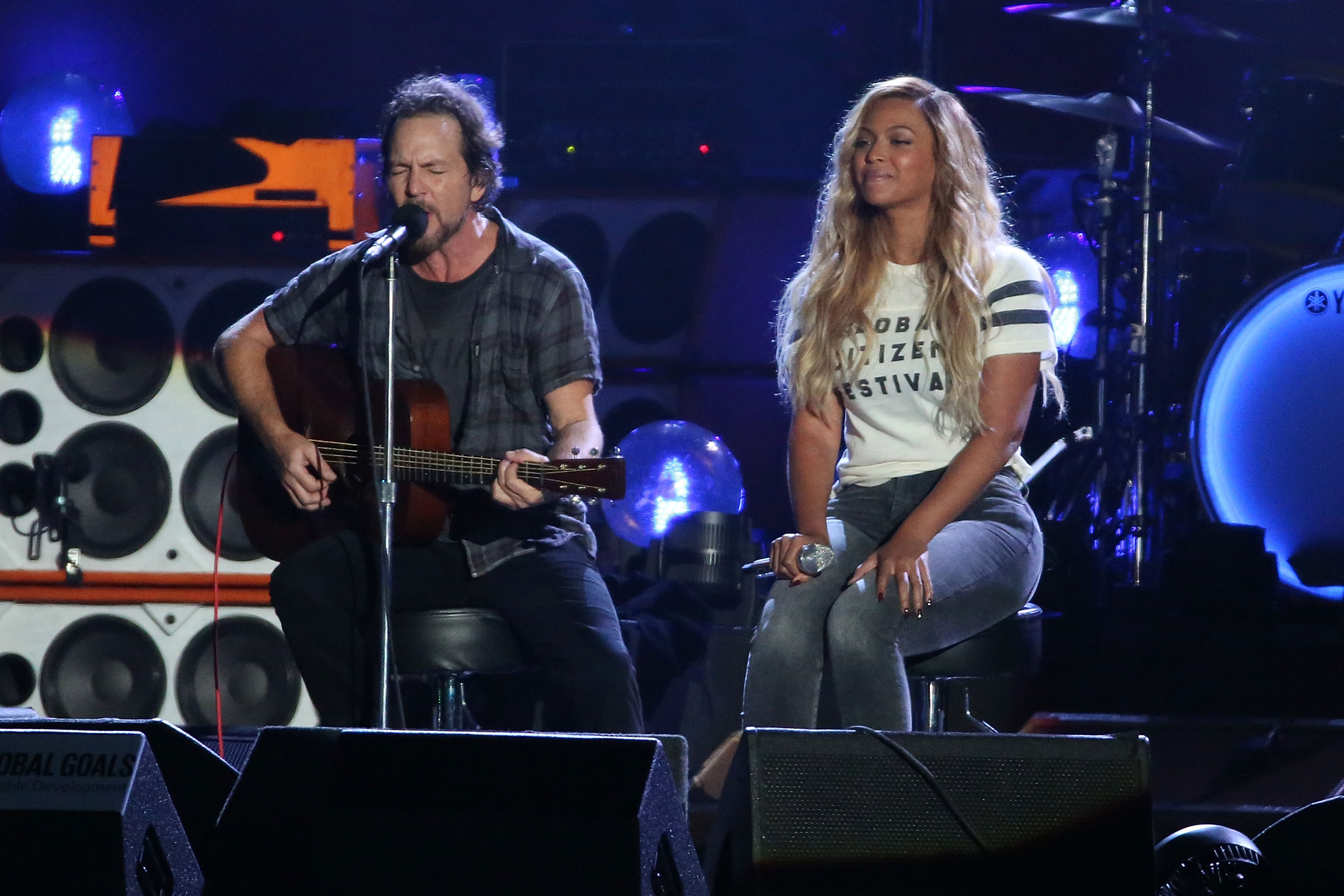 livestream global citizen festival 2016  watch eddie vedder beyonceacute cover redemption song at global citizen fest