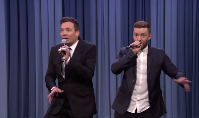 Watch Jimmy Fallon & Justin Timberlake's History Of Rap 6