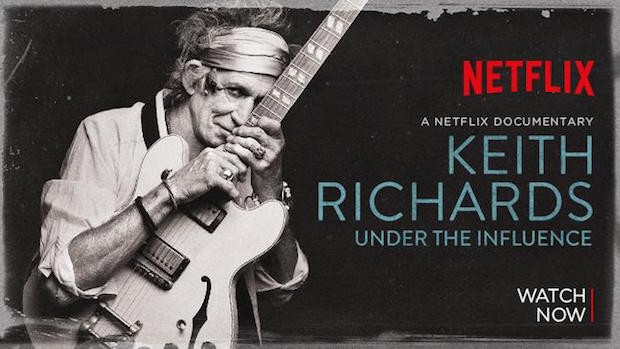 Keith Richards: Under The Influence Documentary On Netflix Now