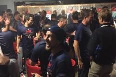 Eddie Vedder in Cubs locker room