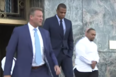 "Jay Z, Timbaland Attend Opening Of ""Big Pimpin'"" Trial"
