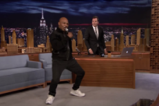 Watch Mike Tyson Attempt Drake&#8217;s &#8220;Hotline Bling&#8221; Dance On <em>The Tonight Show</em>