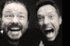 Ricky Gervais and Chris Martin