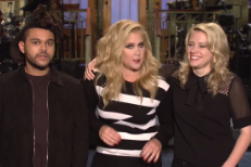 Watch Amy Schumer &#038; The Weeknd&#8217;s <em>SNL</em> Promos