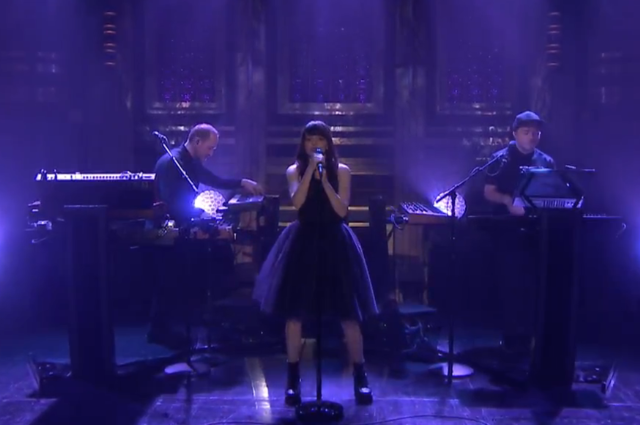 "Watch CHVRCHES Perform ""Leave A Trace"" On Fallon"