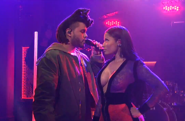 "Hear The Weeknd's ""The Hills"" Remixes With Eminem & Nicki Minaj, Watch His Return To SNL"