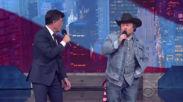 Stephen Colbert & Jack Black Made A Political Anthem So Candidates Can Stop Pissing Off Rock Stars