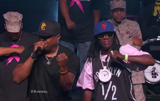 Watch Public Enemy Play Kimmel In Brooklyn & Cameo In His Do The White Thing Parody