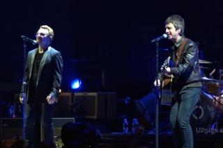 """Watch Noel Gallagher Join U2 On """"I Still Haven't Found What I'm Looking For"""" In London"""