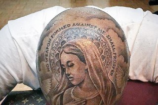 YG's New Virgin Mary Tattoo Covers His Entire Head