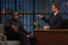 Watch Diddy Tell Seth Meyers About Falling Off The Stage At The BET Awards