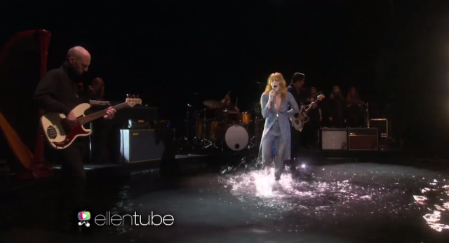 "Watch Florence + The Machine Perform ""Ship To Wreck"" In A Pool Of Water On Ellen"