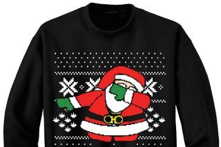 Santa's Dabbing On 2 Chainz' Ugly Christmas Sweater