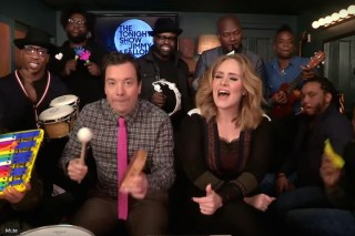 """Watch Adele & The Roots Play """"Hello"""" On Classroom Instruments"""