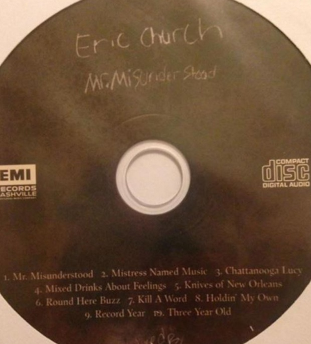 eric church sent a surprise album to fan club members stereogum. Black Bedroom Furniture Sets. Home Design Ideas