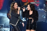 "Watch Alanis Morissette & Demi Lovato Sing ""You Oughta Know"" At The AMAs"