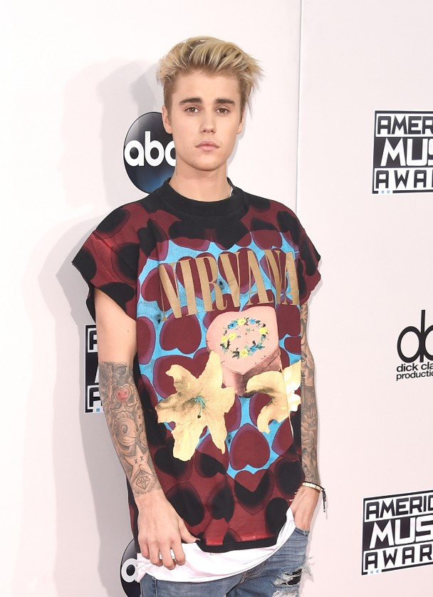 1d378cdc8 Justin Bieber's Stylist Explains His Controversial Nirvana T-Shirts -  Stereogum