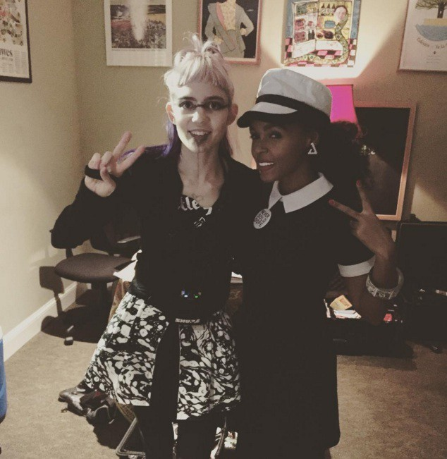 Grimes and Janelle Monae
