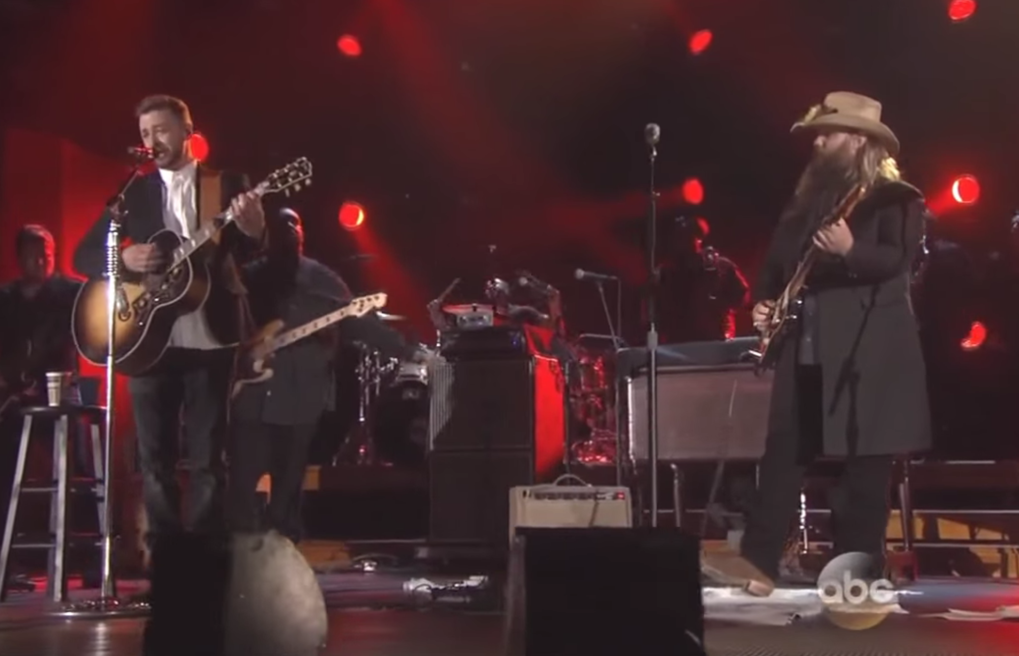 Watch chris stapleton duet with justin timberlake at the for Justin timberlake chris stapleton drink you away