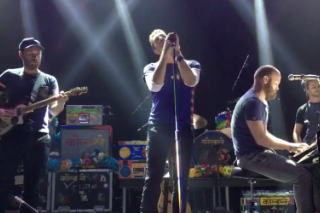 "Watch Coldplay Cover ""Imagine"" In Tribute To Paris"