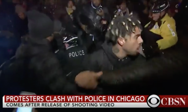 Vic Mensa Among Protestors Clashing With Chicago Police Over Laquan McDonald Shooting