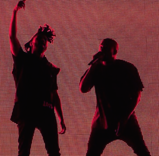 The Weeknd and Kanye West