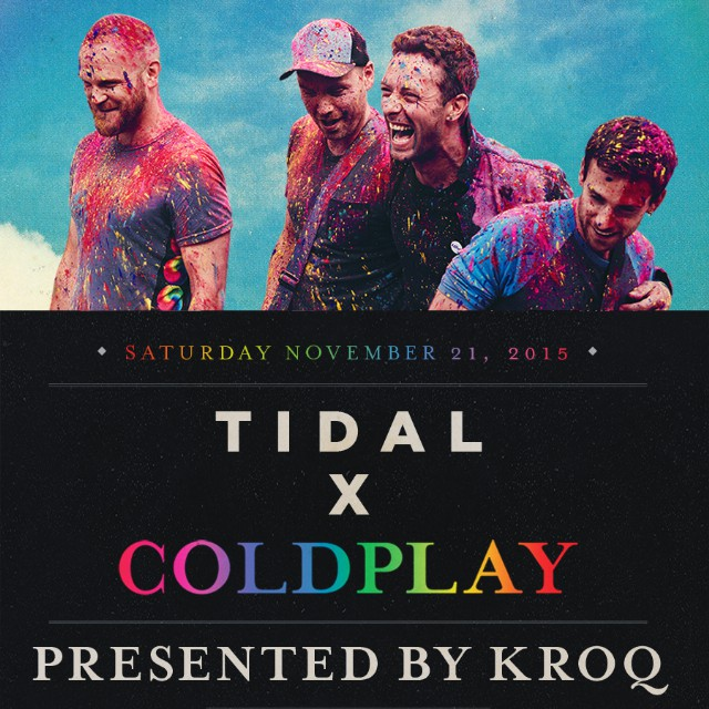 Livestream The TIDAL x Coldplay Concert