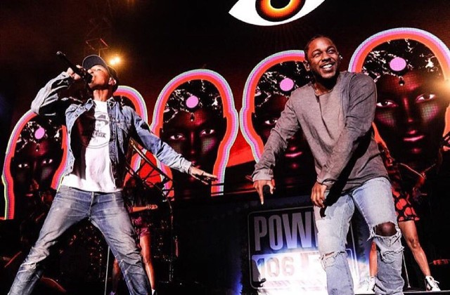watch kendrick lamar and pharrell perform alright at power 106 cali christmas