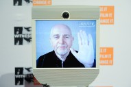 Skype The Monkey: Peter Gabriel Gives Apes Video Conferencing Equipment