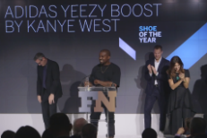 "Kanye Attempts ""Full Will Ferrell Level Drunk"" Speech At Footwear News Achievement Awards"
