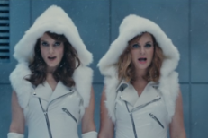 Watch Tina Fey, Amy Poehler, & Amy Schumer Parody Taylor Swift's Squad On SNL