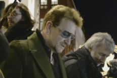 Watch Bono's Annual Charity Busking On Christmas Eve