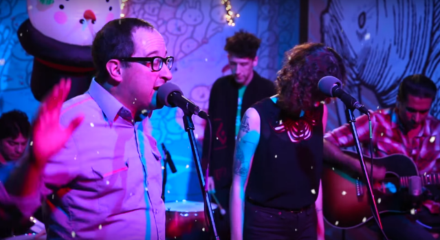 """Watch Craig Finn & Esmé Patterson Cover Low's """"Just Like Christmas"""""""
