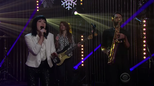 "Watch Carly Rae Jepsen Bring Holiday Cheer To James Corden With Her ""Last Christmas"" Cover"