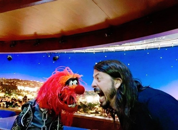 Watch Dave Grohl Battle Animal In A Muppets Drum-Off