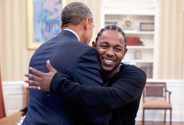 Kendrick Lamar and Obama