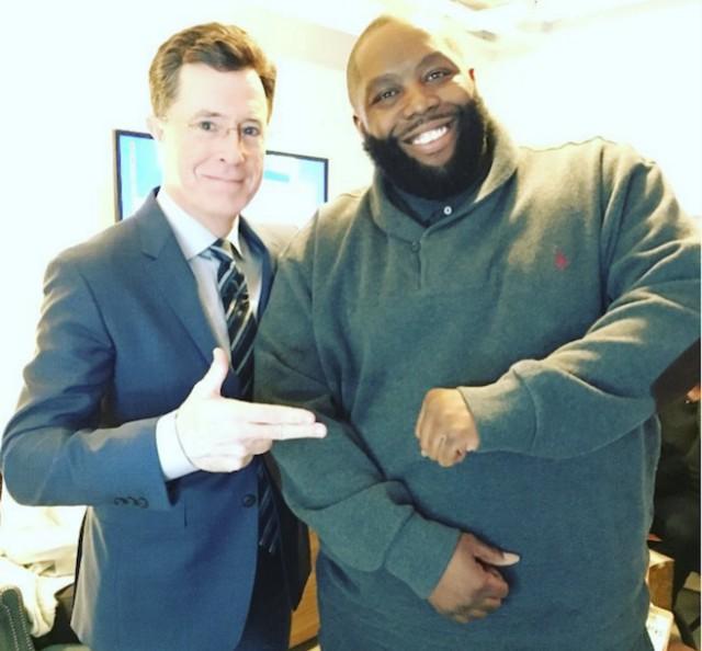 Killer Mike and Stephen Colbert