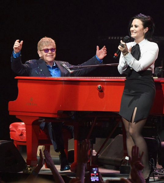 Watch Elton John Perform With Demi Lovato, Shawn Mendes, Patrick Stump In LA