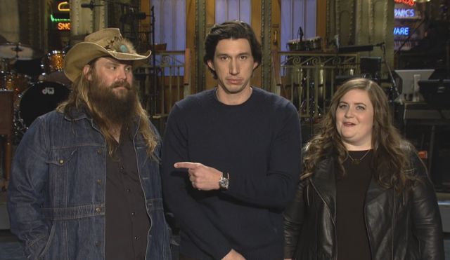 Chris Stapleton & Adam Driver Together At Last In This Week's SNL Promos
