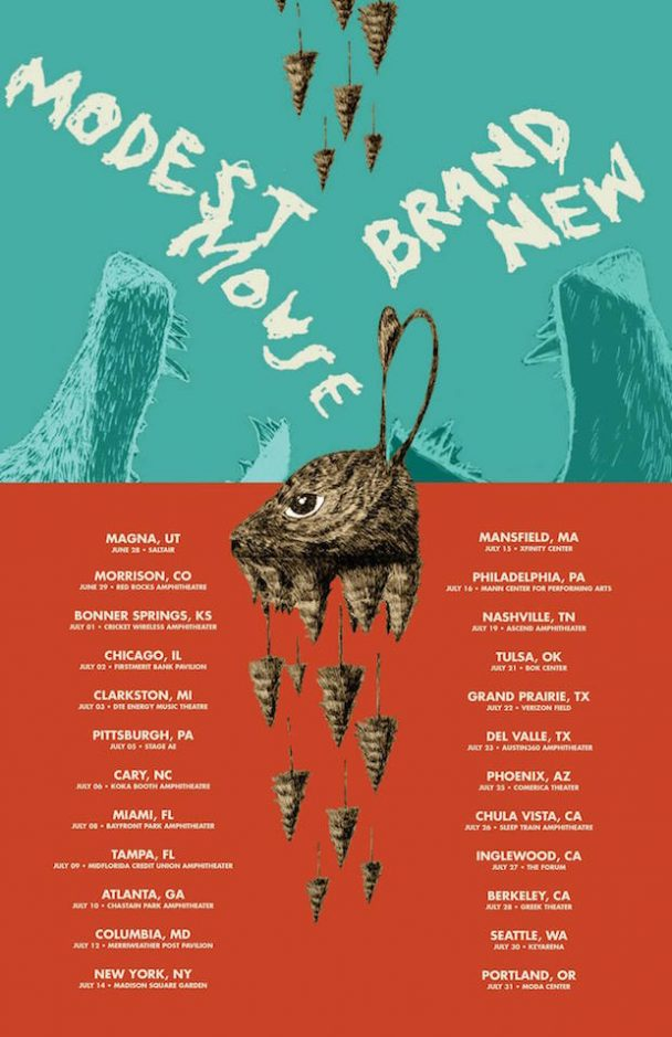 Brand New Modest Mouse Tour Poster