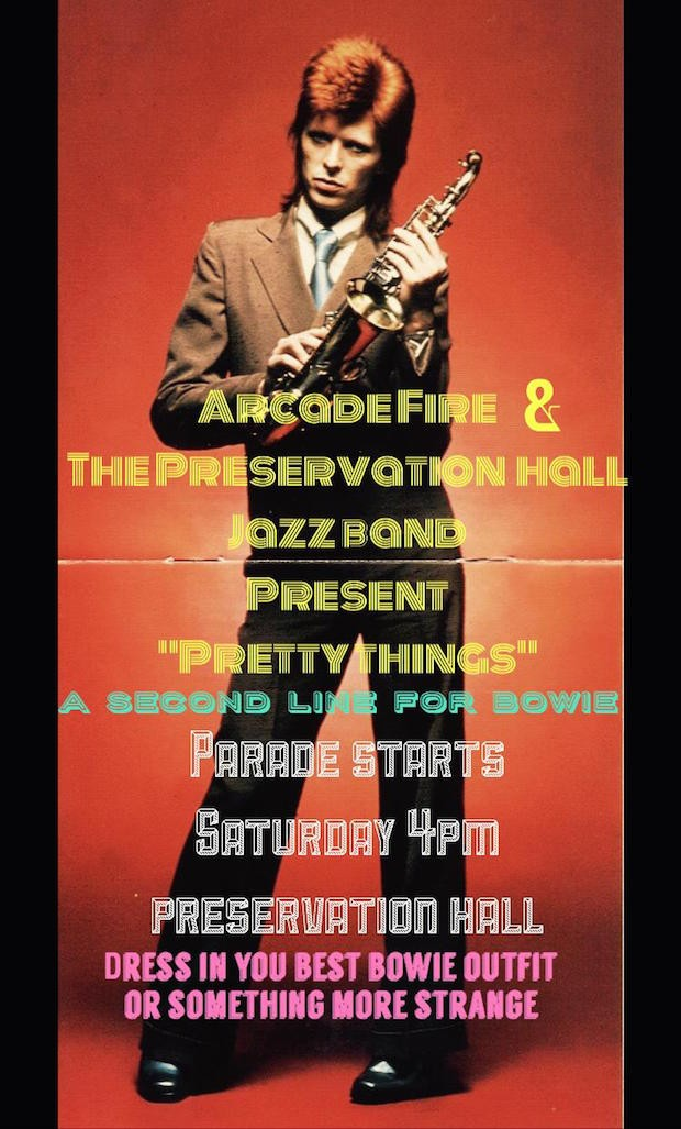 Arcade Fire & Preservation Hall Jazz Band Announce A Second Line For Bowie This Weekend